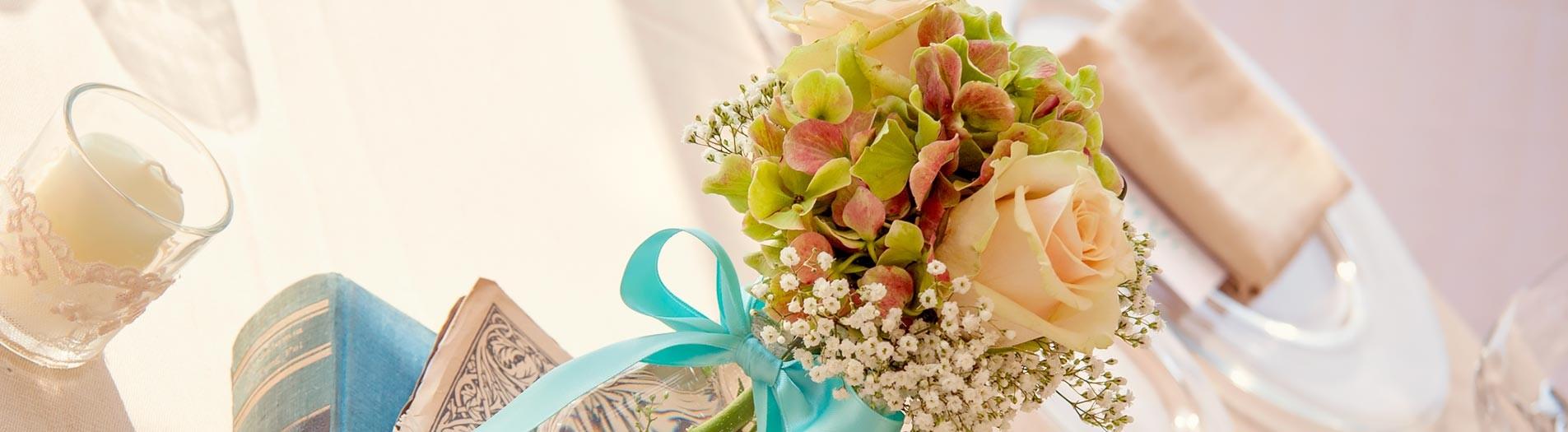 Fiori e colori per un matrimonio Shabby Chic a Villa Pestalozza