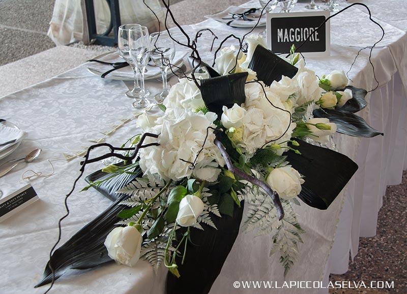 Matrimonio In Bianco E Nero : Fiori per matrimonio in bianco e nero a villa rusconi