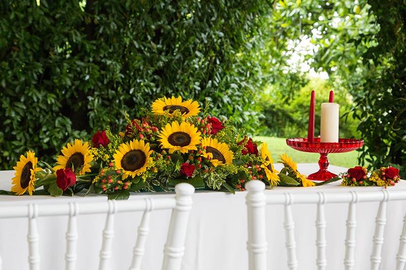 Fiori cerimonia Villa Rusconi