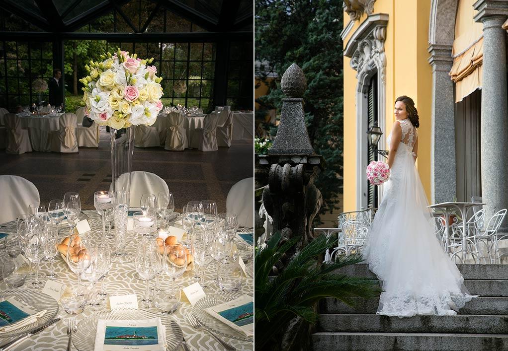 centrotavola matrimonio Villa Rusconi Clerici