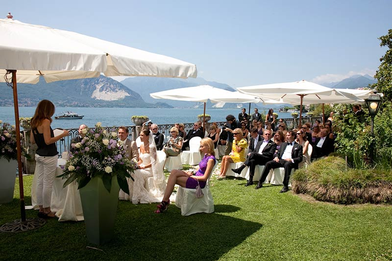 composizioni floreali per cerimonia a Villa Rusconi