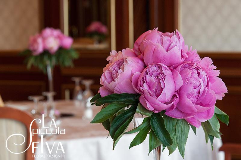 Tema Matrimonio Rosa Quarzo : Addobbi floreali e bouquet con peonie