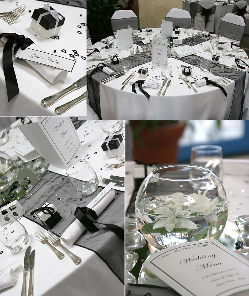 Allestimento Tavolo Bianco E Nero.Fiori Per Matrimonio In Bianco E Nero A Villa Rusconi