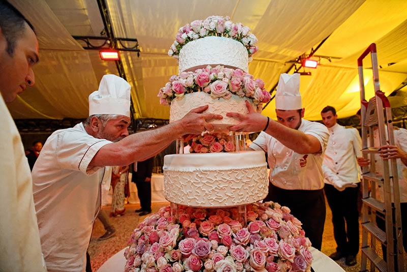 Fiori torta nuziale a Villa Rusconi Clerici